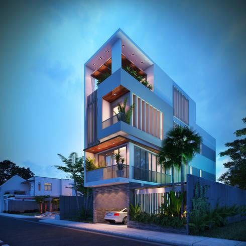 Nhà Anh Long:  Nhà by AT Design