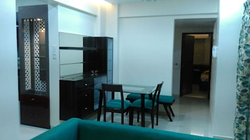Hill Shire, Wagholi: modern Dining room by Area Planz Design