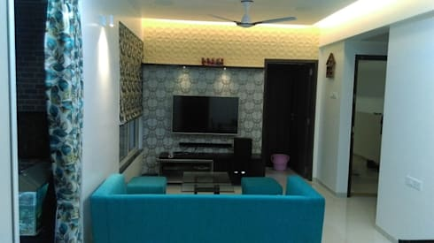 Hill Shire, Wagholi: modern Living room by Area Planz Design
