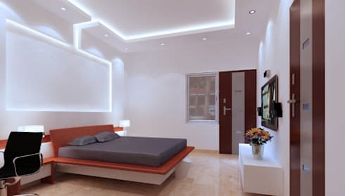 Bedroom:   by RID INTERIORS