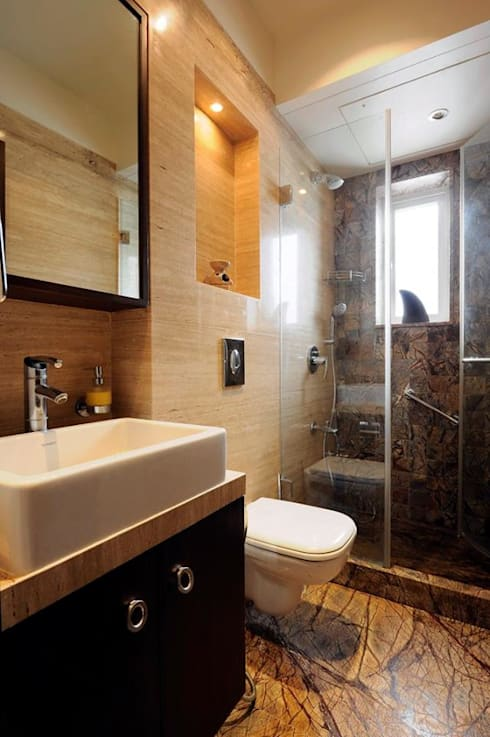 Mumbai Residence,:  Bathroom by DesignTechSolutions