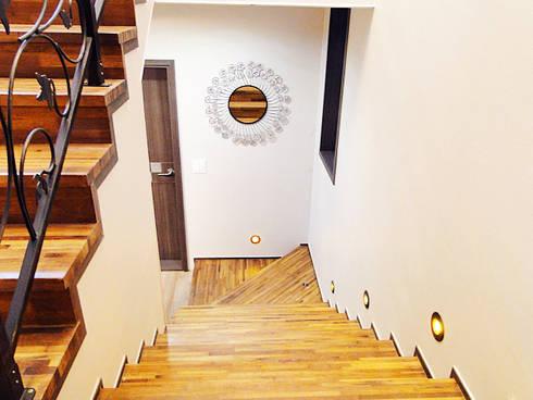 세종시 청벽마을 45평형 ALC친환경 리모델링: W-HOUSE의  계단