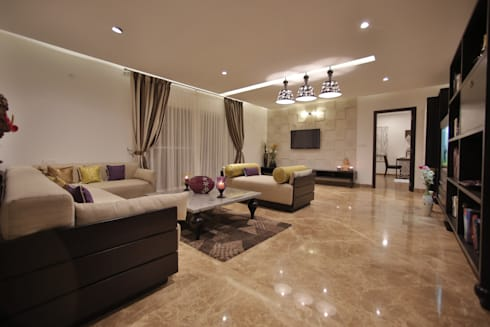Tranquil Home: modern Living room by Architecture Continuous
