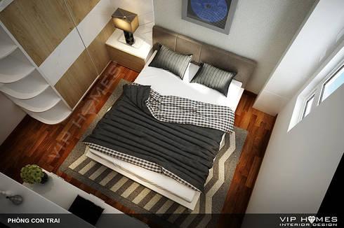 Thiết kế nội thất phòng ngủ con trai:   by Công ty TNHH Không Gian Mo