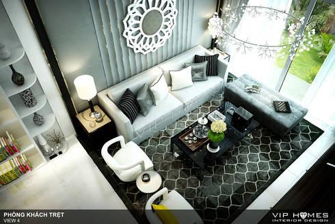 Thiết kế nội thất phòng khách phong cách hiện đại:   by Công ty TNHH Không Gian Mo
