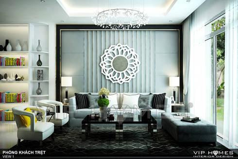 Thiết kế nội thất nhà phố phong cách hiện đại An Thiên Lý Q9:   by Công ty TNHH Không Gian Mo