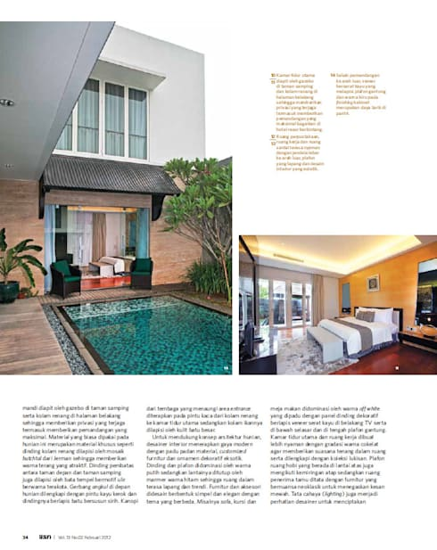 CINERE AT MAJALAH ASRI:  Kolam Renang by sony architect studio