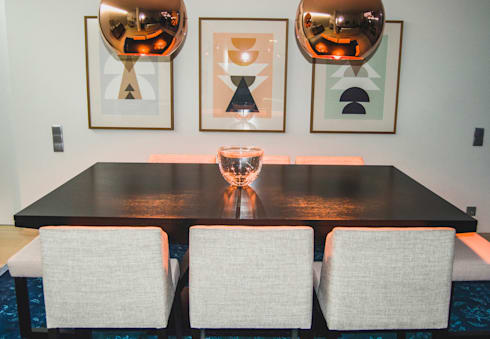 Sala de Jantar: Salas de jantar modernas por Tangerinas e Pêssegos