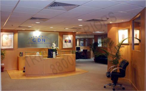 GDN:  Office buildings by Tribuz Interiors Pvt. Ltd.