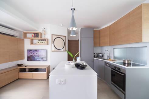 Cherry Crest: scandinavian Kitchen by Clifton Leung Design Workshop