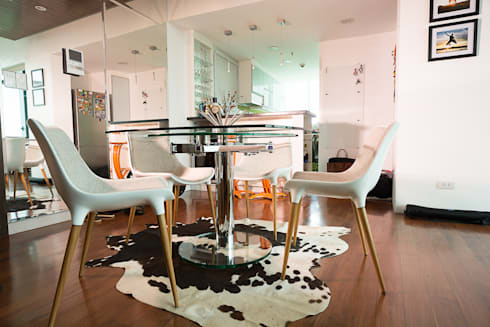 8 Forbes Town Road Golf View Residences: modern Dining room by TG Designing Corner