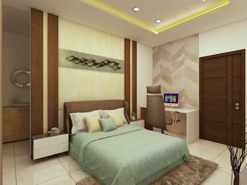 Master Bedroom: modern Bedroom by Regalias India Interiors & Infrastructure