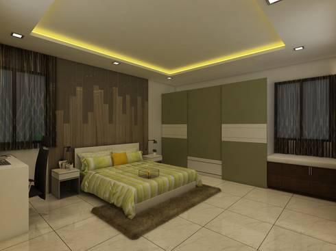 Master Bedroom: modern Bedroom by Regalias India Interiors & Infrastructure