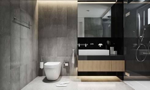 Nội thất căn hộ Novaland:  Phòng tắm by thiết kế kiến trúc CEEB