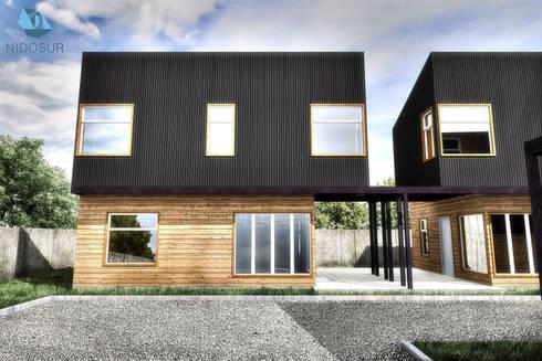 Exterior - Fachadas: Condominios de estilo  por NidoSur Arquitectos
