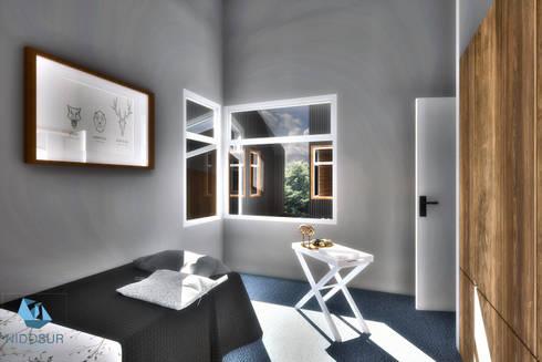 Interior - Dormitorios: Dormitorios de estilo moderno por NidoSur Arquitectos