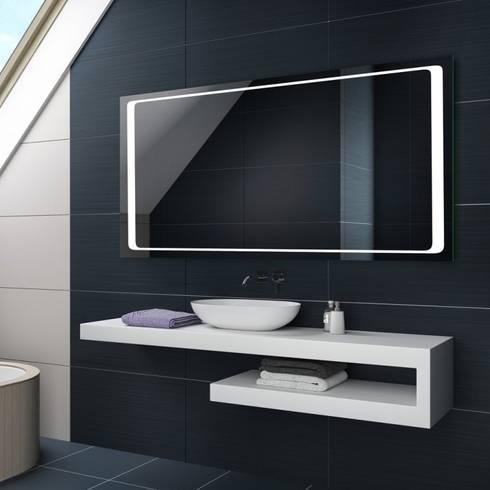 Espejos de ba o con luz led integrada por centro espejos - Espejos retroiluminados bano ...