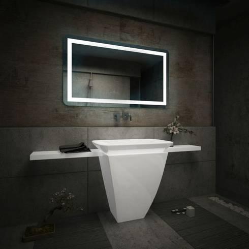 Espejos de ba o con luz led integrada de centro espejos - Espejo bano con luz integrada ...