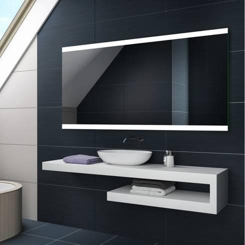 Espejos de ba o con luz led integrada de centro espejos homify - Espejos para lavabos ...