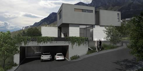 Casa AA: Casas de estilo moderno por VOA Arquitectos