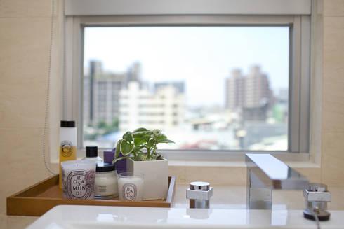 【居家設計】謙謙太子蔡邸--品牌來自於「生活」的價值:  浴室 by 謐境空間策略事務所 - Dimension Scenario Work