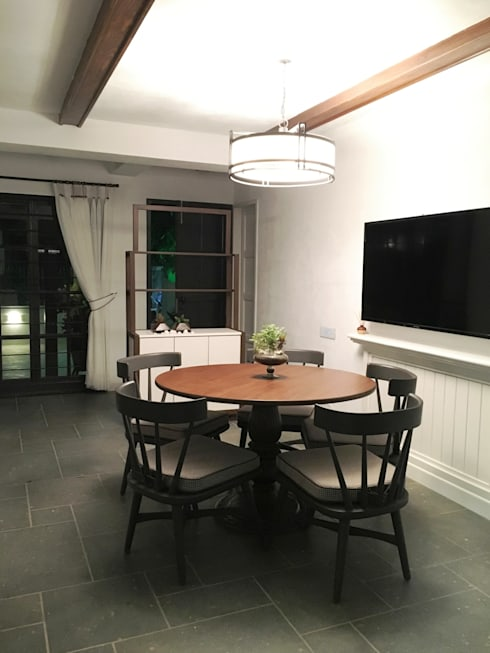 DINING AREA:  Dining room by DESIGNER'S CIRCLE