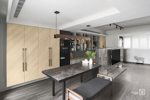 訂製餐桌:  餐廳 by 禾廊室內設計