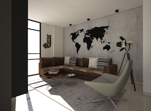 industrial Media room by ecoexteriores