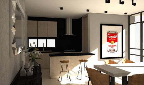 industrial Kitchen by Savignano Design