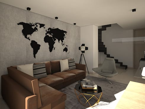 industrial Media room by Savignano Design