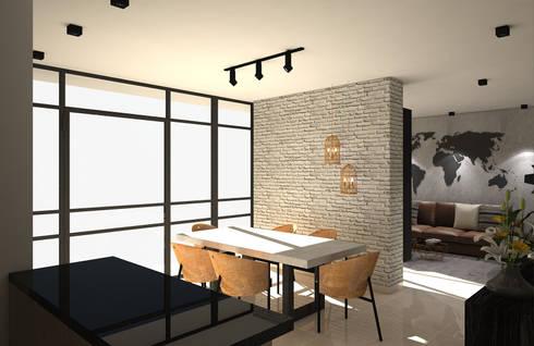 industrial Living room by Savignano Design
