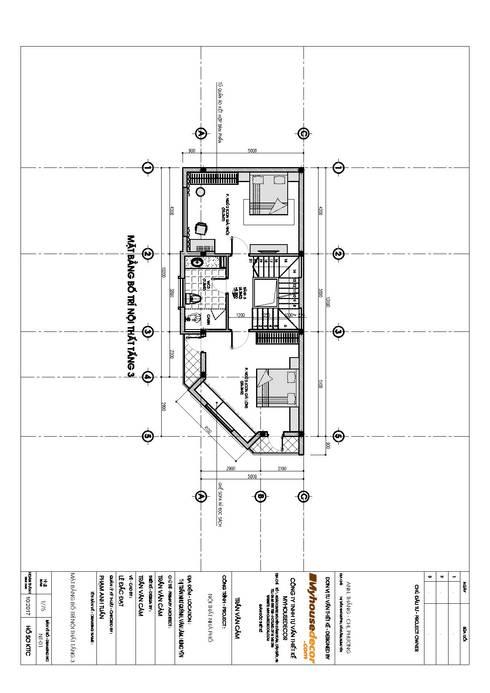 Nhà Anh Thắng – Chị Phương:   by Công ty TNHH Tư vấn thiết kế My House Decor