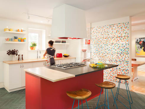 Cohen House: eclectic Kitchen by Metcalfe Architecture & Design