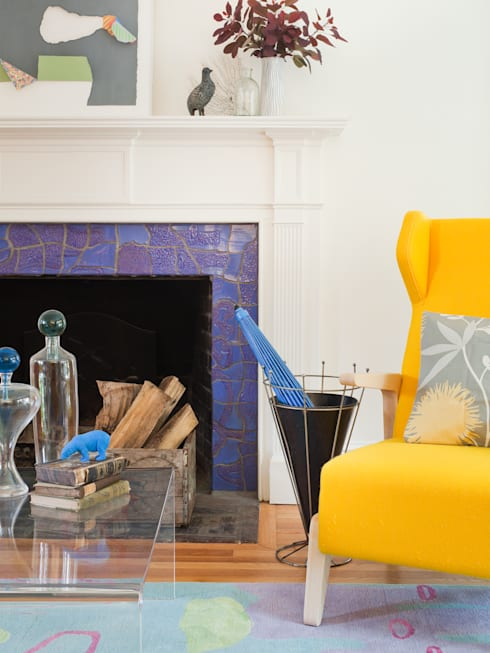 Cohen House: eclectic Living room by Metcalfe Architecture & Design