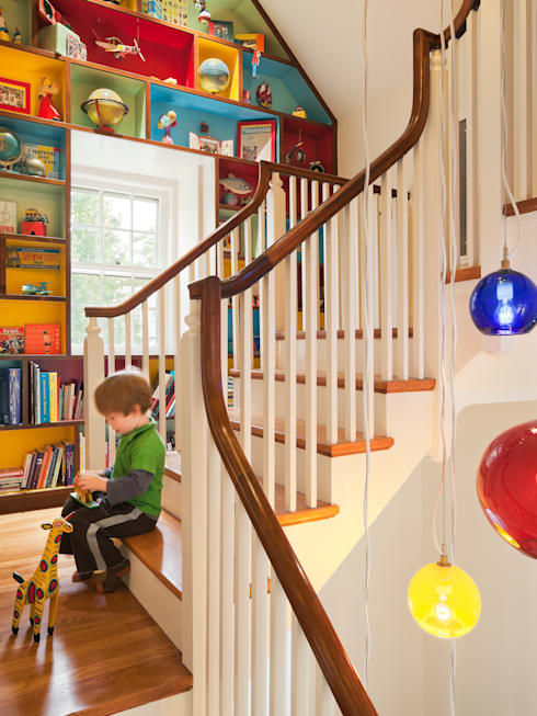 Cohen House:  Stairs by Metcalfe Architecture & Design