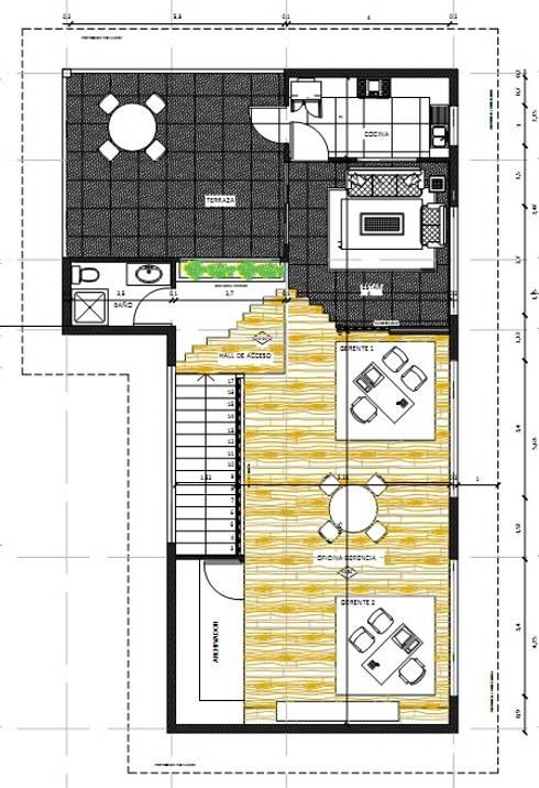 Planta Segundo piso :  de estilo  por Cerni.arquitectura