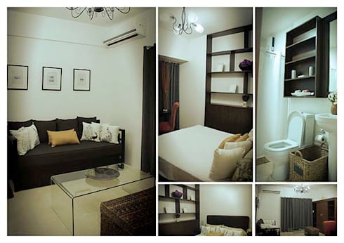 Aspire Tower in Quezon City – One Bedroom:   by SNS Lush Designs and Home Decor Consultancy