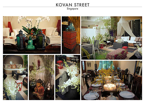 Kovan Street Singapore – Resort Style Two Storey House:   by SNS Lush Designs and Home Decor Consultancy