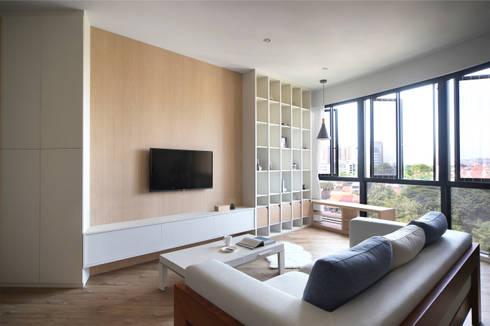 THE PROMENADE @ PELIKAT: scandinavian Living room by Eightytwo Pte Ltd