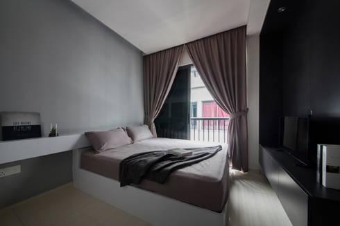 THE PROMENADE @ PELIKAT: minimalistic Bedroom by Eightytwo Pte Ltd