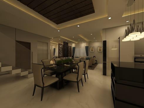 Dining Room : country Dining room by Regalias India Interiors & Infrastructure