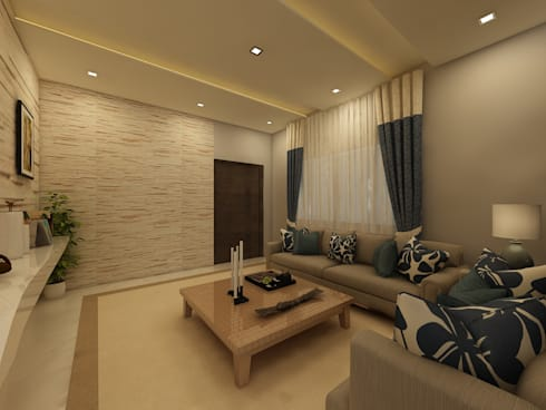 Drawing Room: country Living room by Regalias India Interiors & Infrastructure