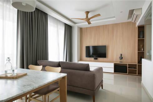SKY HABITAT: scandinavian Living room by Eightytwo Pte Ltd