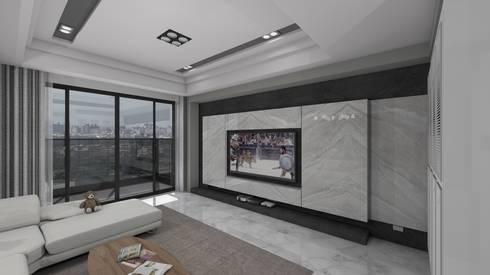 電視牆:   by Gavin室內裝修設計