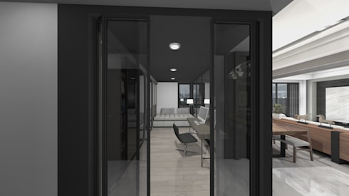 玻璃鐵件隔間書房:   by Gavin室內裝修設計