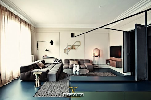 modern Living room by CASABA