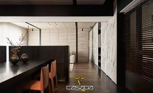modern Dining room by CASABA