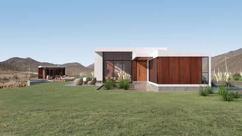 Vivienda Las Animas: Casas de campo de estilo  por Uno Arquitectura