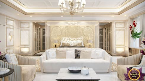 ​Luxury house decoration by Katrina Antonovich: modern Bedroom by Luxury Antonovich Design