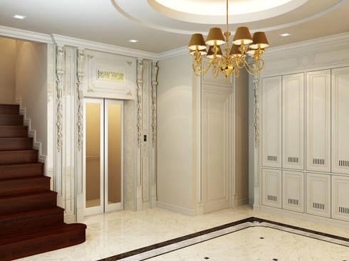 โครงการออกแบบบ้านพักอาศัย 3 ชั้น นวมินทร์ 55:   by taisilp interior